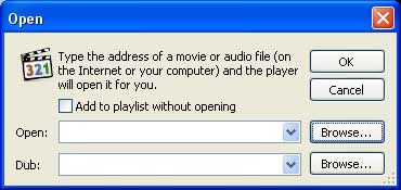 Browse DVD folder on hard drive.