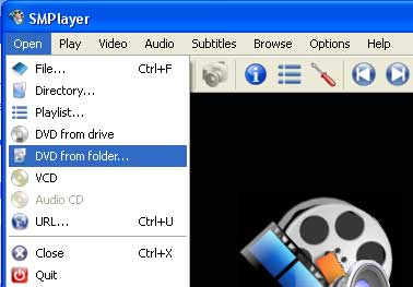 After copying DVD to hard drive, use SMPlayer to play DVD folder on hard drive.