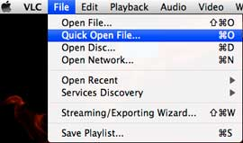 Open DVD folder on Mac with VLC player. DVD folder is copied from DVD to Mac by DVDSmith Movie Backup.