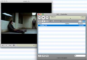 VLC Player plays DVD folder on Mac which is copied by DVDSmith Movie Backup.