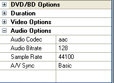 customized output file video and audio parameters