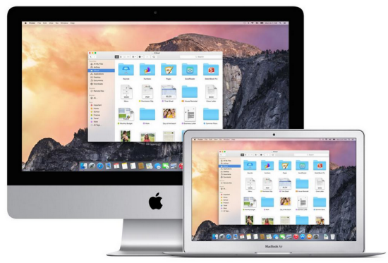Apple released Mac OS X Yosemite