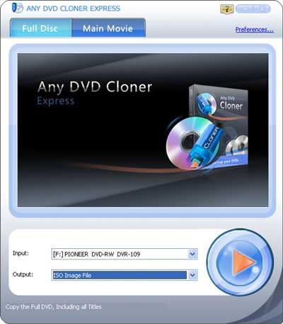 Any DVD Cloner Express screenshot