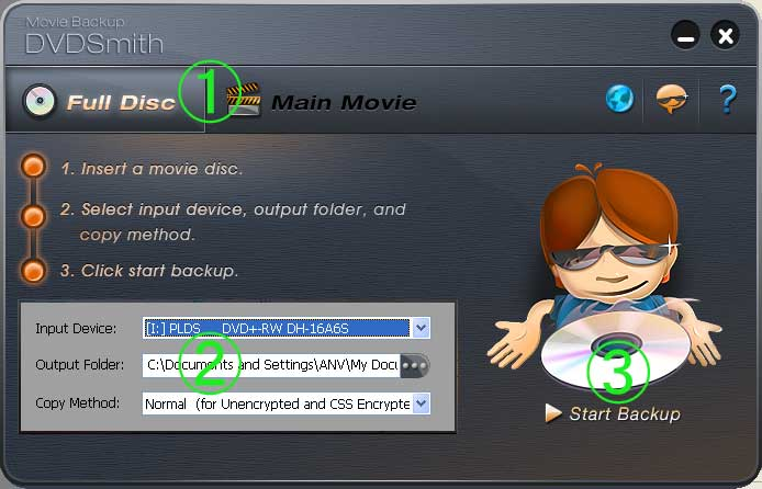 DVDSmith Movie Backup screenshot